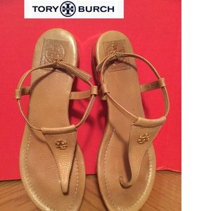 (Tory Burch) size 9M thong sandals leather tan
